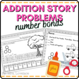 Addition Number Bond Story Problems | Cut and Paste Pictures