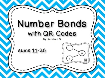 Number Bonds with QR Codes-sums 11-20