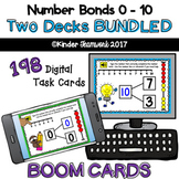 Number Bonds with Sums 0 to 10 BUNDLED Digital BOOM Task Cards {NO PREP!}