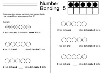 Number Bonds: Coloring Combinations of 4, 5, 6, 7, 8, 9, and 10