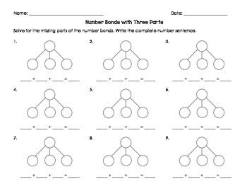 Number Bonds with Three Parts