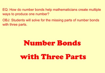 Number Bonds with Three Parts SMARTNotebook Lesson