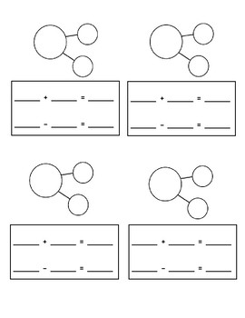 Number Bonds with related Number Sentences