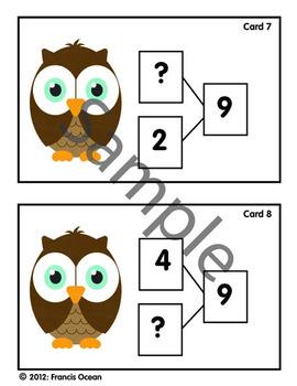 Number Bonds/Fact Family Classroom Scavenger Hunt #9 - Owl