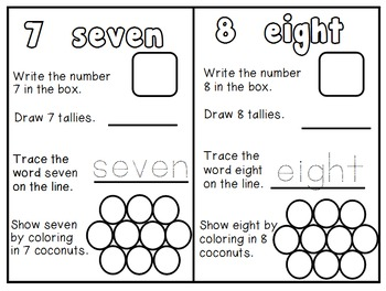 Number Book 0-10 Chicka Chicka Boom Boom DIFFERENTIATED + Interactive Jrnl Insrt
