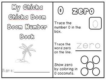 Number Book 0-10 Chicka Chicka Boom Boom DIFFERENTIATED +