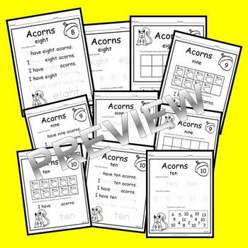 Acorns Number Book 0-20