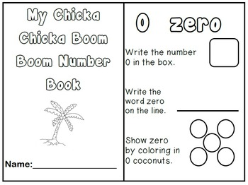 Number Book 0-5 Chicka Chicka Boom Boom DIFFERENTIATED Interactive Math Journals