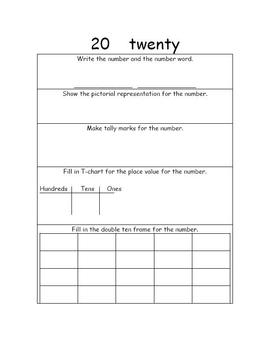 Number Book 1 - 20