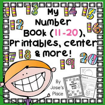 Number Book 11-20, Printables, Center, and more!