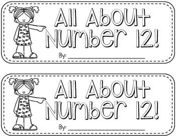 Number Book {12} FREEBIE!