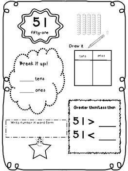 Number Book 51 - 100, Go Math!