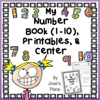 Number Book 1-10, Printables, Center, and More!