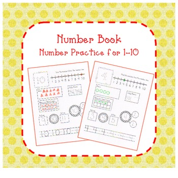 Number Book for 1-10