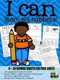 Number Book for PreK and Kindergarten! 0 - 20 handwriting!