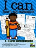 Number Book for PreK and Kindergarten! 0 - 20 handwriting!