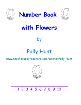 Number Book with Flowers