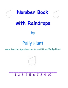 Number Book with Raindrops
