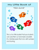 Number Book activity Fish /ocean