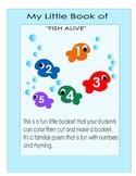 Number Booklet Fish alive poem