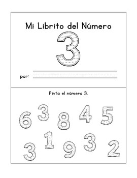 Number Booklets 1-5 (Spanish Version)