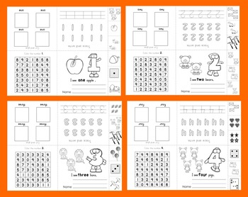 Number Books:  Interactive and Foldable Number Booklets Numbers 1-12