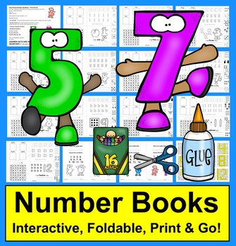 Number Books:  Interactive and Foldable Number Booklets Nu