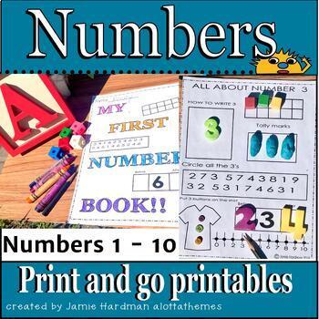 NUMBERS 1-10 Kindergarten