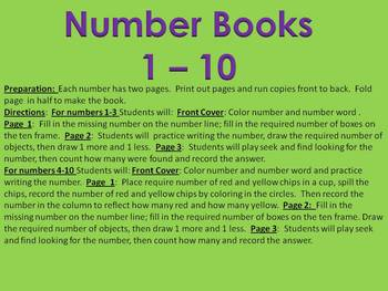 Number Books 1-10 - an all about numbers workbook