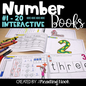 Number 1-20 Interactive Books