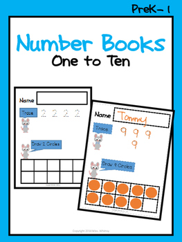 Number Books: One to Ten