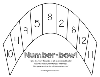 Addition Game - Colors of the Number-bow!