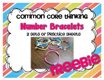 Number Bracelet Practice Pages {2 sets}