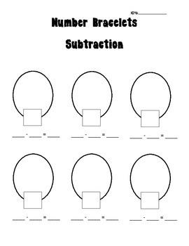 Number Bracelets - Addition and Subtraction