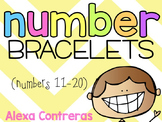 Number Bracelets {Numbers 11-20}