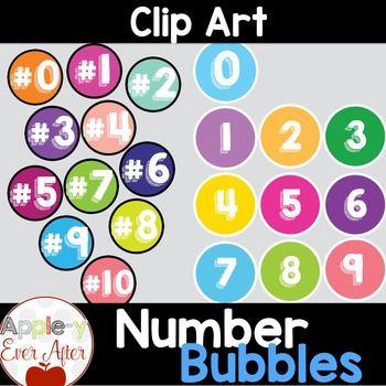 Number Bubbles - Clipart