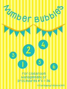 Number Bubbles Yellow and Teal