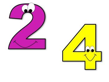 Number Buddies 0-9 Clip Art