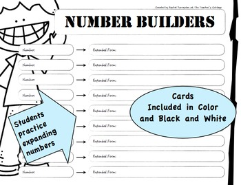 Number Builders Place Value Activity