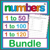 Number Bundle 1 to 50, 1 to 100 and 1 to 120.