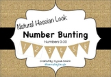 Number Bunting: Natural Hessian Look