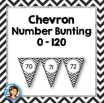 Number Bunting / Number Line {0 - 120} Chevron