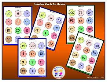 Number Cads for Games