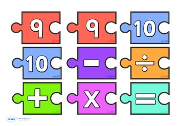 Number Calculation Jigsaw 0-10
