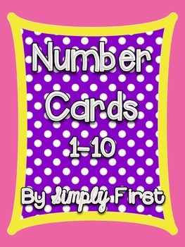 Number Card Posters 1-10