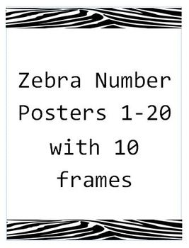 Number Card Posters 1-20 with 10 Frames(Editable)