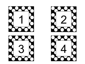 Number Card Printables- Black and White