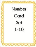 Number Card Set 1-10