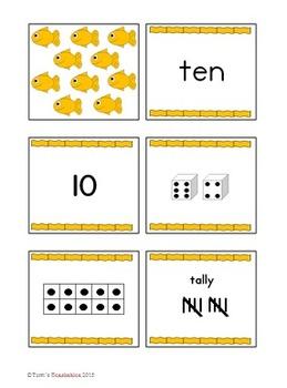 Number Card Sets - Animals