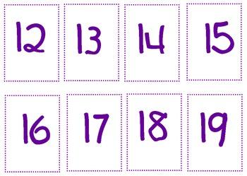 Number Cards 0-25